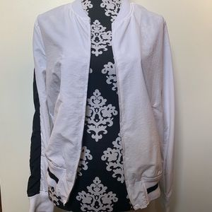 White and Black Light Windbreaker Jacket